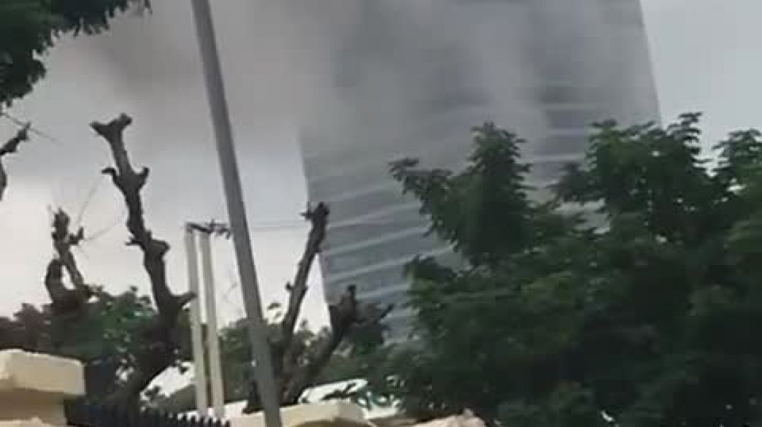 World trade center currently on fire in Abuja