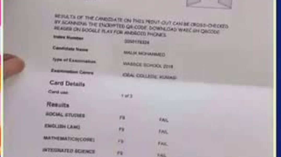 think you did not do well on your wassce exams